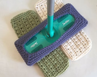 Swiffer Pads Reusable Crochet Swiffer Covers Set of 3 Made to Order