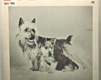 Dog World April 1966 Canines Pets Dogs Magazine!