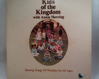 Vintage 1976 Record Kids of the Kingdom with Annie Herring Sparrow Records Inc.