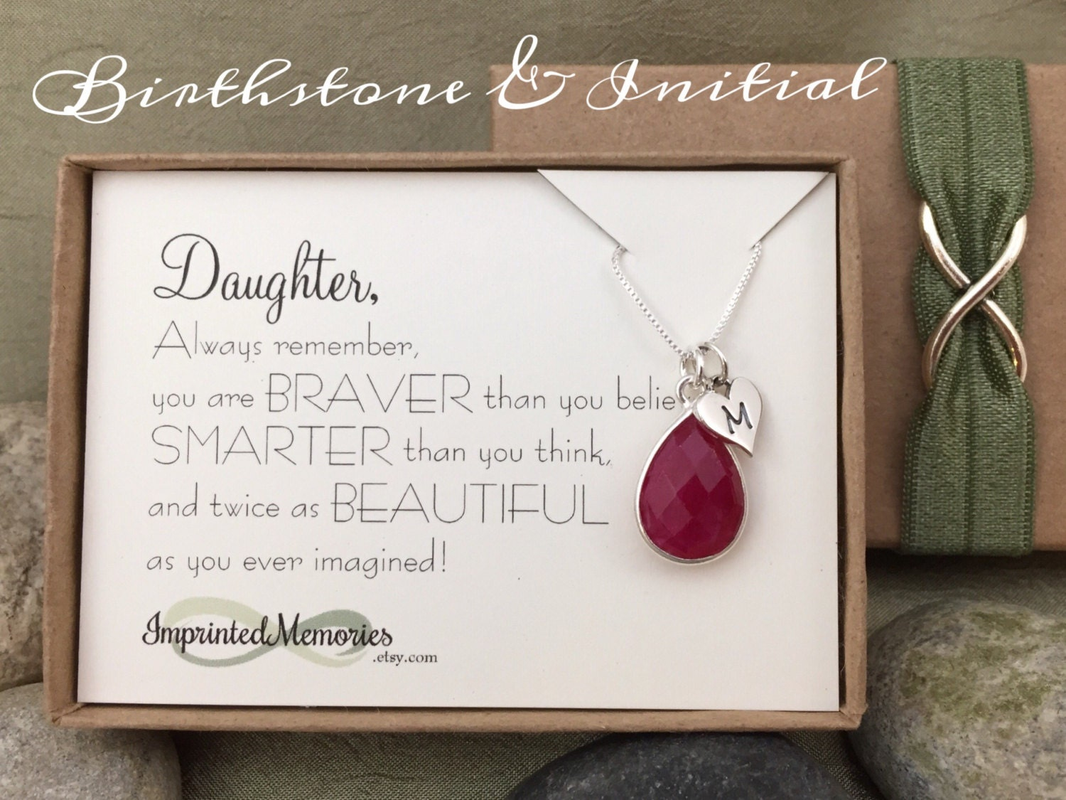 Gift For Daughter Jewelry Sterling Silver Birthstone