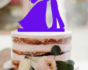 Wedding Cake Topper Dancing Bride and Groom Silhouette Wedding cake topper dancing groom cake topper wedding topper silhouette cake topper