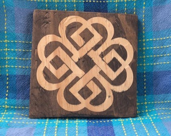 Celtic Knot Wood Plaque - Ready to Ship