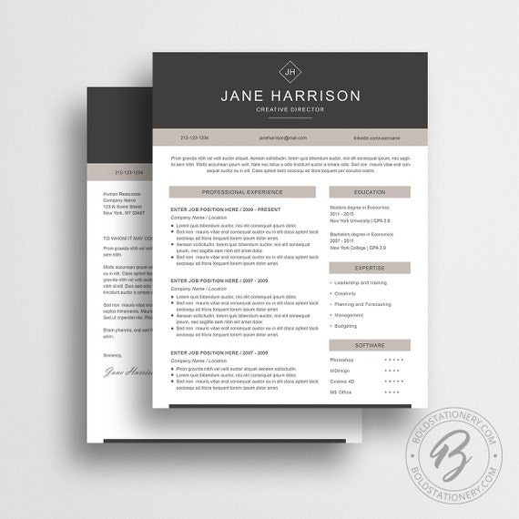 Resume Templates from Bold Stationary