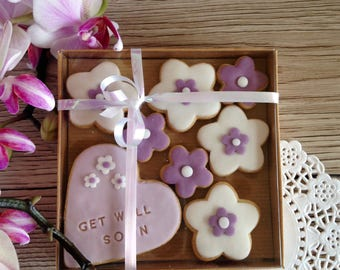 GET WELL SOON biscuits - hand baked and decorated
