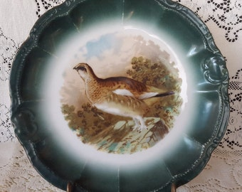 RM Bavaria Game Bird Grouse Porcelain Wall Plate