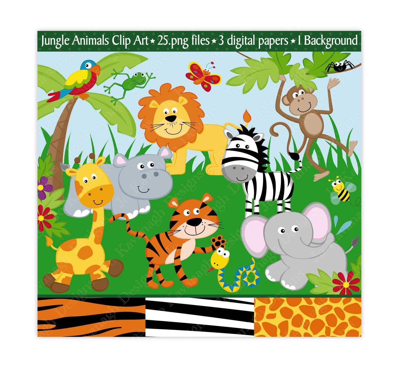 Jungle Clip Art Jungle Clipart Jungle Animals Clip Art