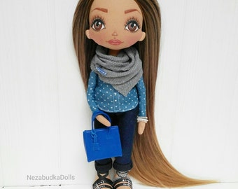 Customized Ragdolls Handmade Babydolls Textile dolls Interior dolls Art dolls daughter Birthday Gift for her Cloth doll Fabric doll Soft toy