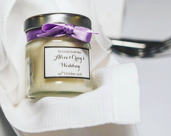 Wedding Favour Candle Jars (Personalised)