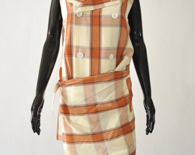 Featured listing image: AD1994 Comme Des Garçons Tricot Plaid Dress