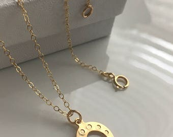 Gold horse shoe necklace lucky charm necklace southwestern jewelry everyday jewelry gift for women