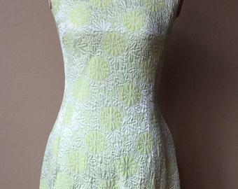 Vintage 1960's Chartreuse Shift Dress