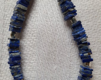 Deep blue Lapis with silver