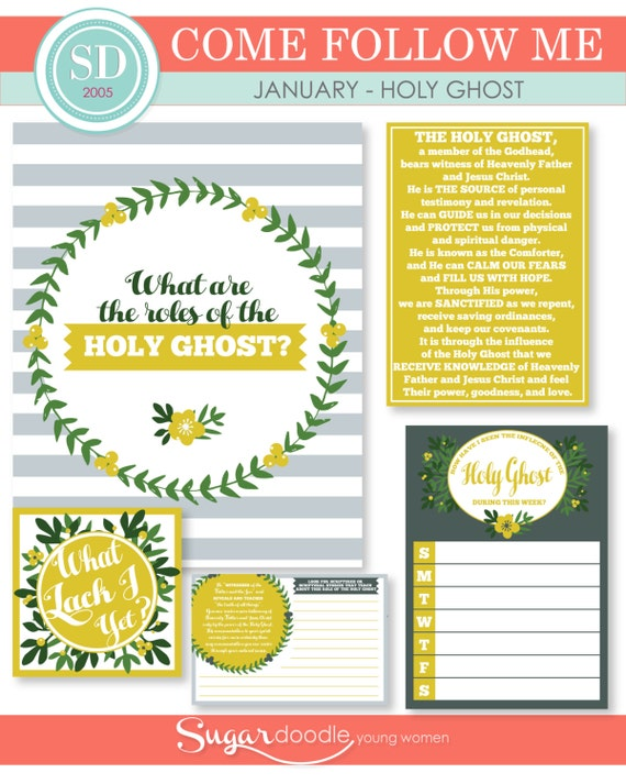 "LDS YW Come Follow Me - January - ""What are the roles of the Holy Ghost?"" - Printable Lesson Helps - MB"
