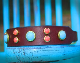 Leather Dog Collar, Custom dog collar, thick leather collar, pet collar, girl dog collar, boy dog collar, handmade dog collar, dog collar