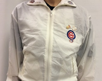 Vintage Chicago Cubs Jacket with Pins included