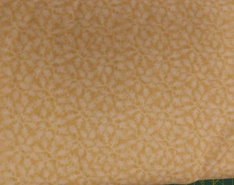 Cream Sprigs fabric. leaves leaf quilters cotton quilting Black Textiles 0653