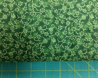 Green Florina fabric. quilters cotton quilting Blank Textiles 1260