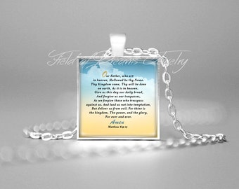 OUR FATHER NECKLACE Matthew 6:9-13 Bible Scripture Jewelry Bible Verse Pendant Christian Jewelry Bible Quote Necklace Bible Verse Necklace