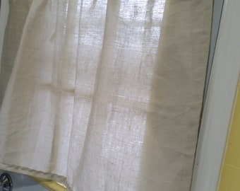 Linen Cafe Curtains, Natural Linen Kitchen Curtains, Linen Kitchen Curtains, Window Curtains, Cafe Curtain