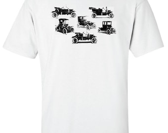 FORD MODEL T Henry Ford Tin Lizzie Leaping Lena Antique Classic Car T-Shirt