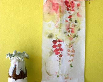 Kakemono painting ink art tissue paper wall hanging hung object painted roll roll