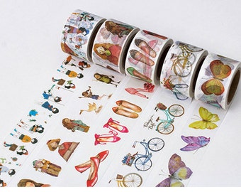 Cute Girl Washi Tape