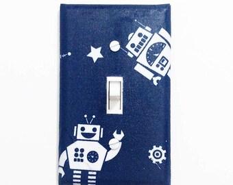 Robot decor - Robot light switch cover - Robot room decor - Robot nursery - Robot wall decor - Boys bedroom decor - Boys room - Robot gift