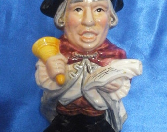"""Vintage Toby Jug """"The Town Cryer"""" and his Bell"""