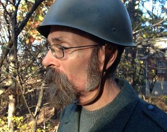 Vintage 1960's-70's Soviet Military Helmet / Olive Drab Green / size small