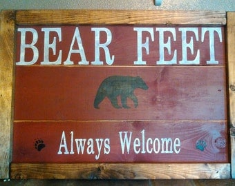 Bear Feet Always Welcome