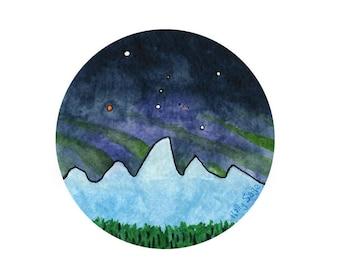 Vinyl Sticker: Teton Moonlight