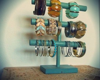 Rustic Bracelet Display, Bracelet Holder, Bracelet Storage, 3 Tier, Cuff holder