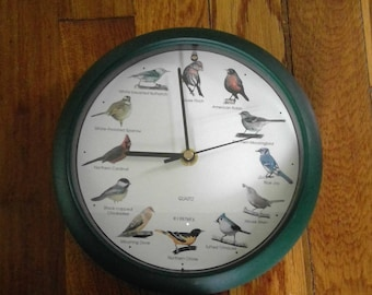 Vintage Singing Bird Wall Clock
