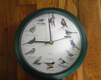 Vintage Singing Bird Wall Clock