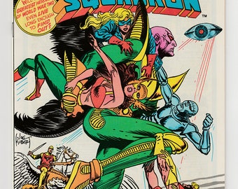 All-Star Squadron #11 DC Comics 1982 Near Mint-WWII Story-Liberty Belle-Hawkgirl-Shining Knight-Alien Invasion Vintage Bronze Age Comic Book