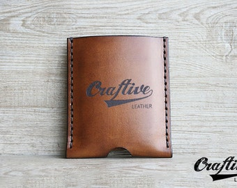 Logo Gifts, Custom Logo Branding,Vertical Credit Cards Wallet,Gift for Men,Minimalist Distressed,Leather Business Card Holder Organizer Case