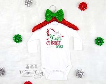 My First Christmas Onesie- Christmas Onesie-First Christmas Onesie- Babys First Christmas Onesie- Holiday Onesie- Baby Holiday Onesie