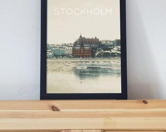 Stockholm Sweeden Poster 11x17 18x24 24x36