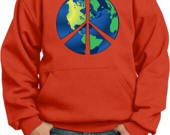 Kid's Peace Hoodie Blue Earth Hoody BLUEEARTH-PC90YH