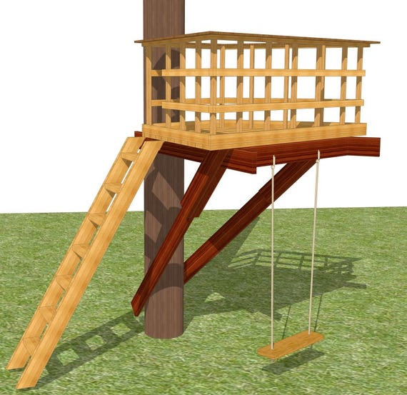 Terrazza tree deck diy plans for one tree for Tree house deck plans
