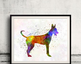 Canarian Warren Hound 01 in watercolor - Fine Art Print Poster Decor Home Watercolor Illustration Dog - SKU 2281
