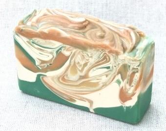 Mango  Papaya Soap | Cold Process Soap | Vegan Soap | Palm Free Soap | Natural Soap | Bar Soap | Artisan