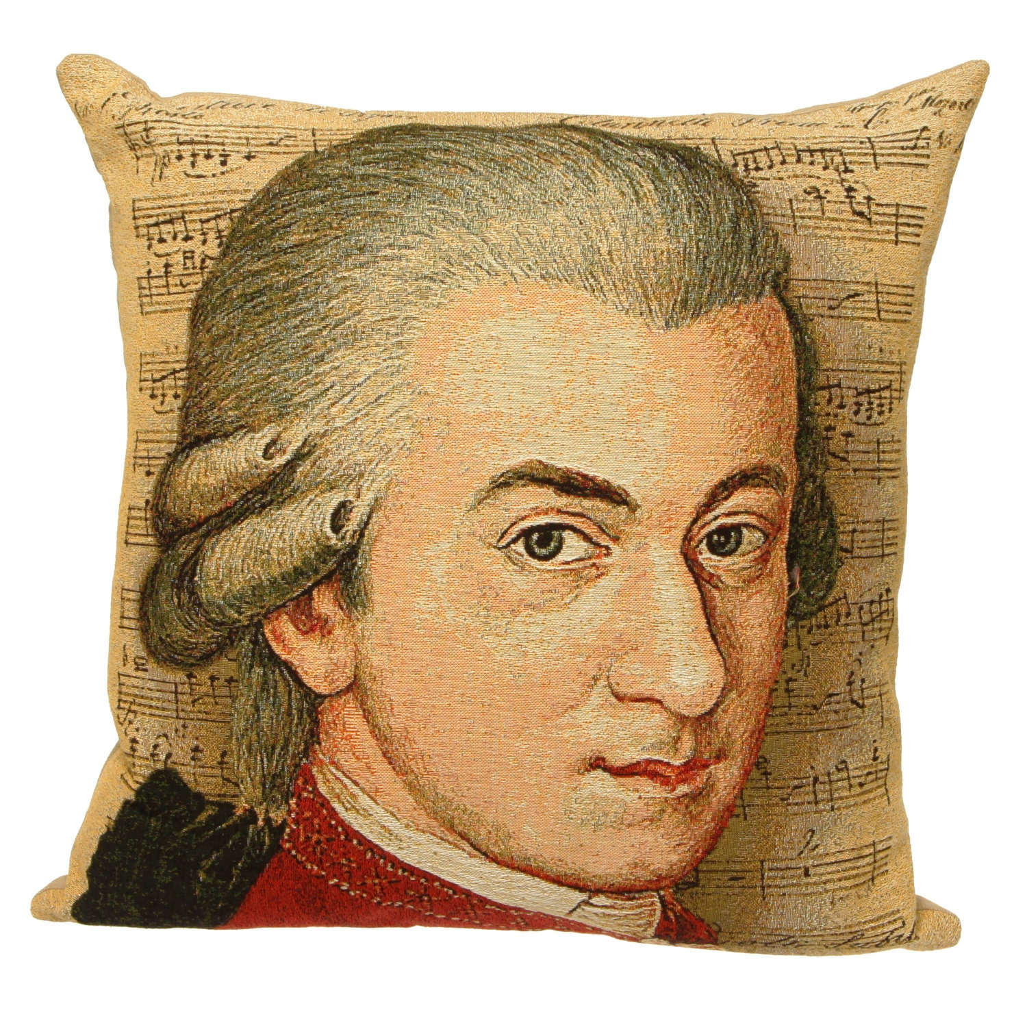 Mozart portrait pillow cover mozart gift amadeus for Amadeus decoration