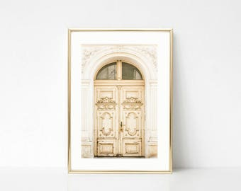 Glam Wall Prints, White Door, Gallery Wall Prints, Paris Photography, Door Wall Art, Paris Gifts For Her, Paris Decor