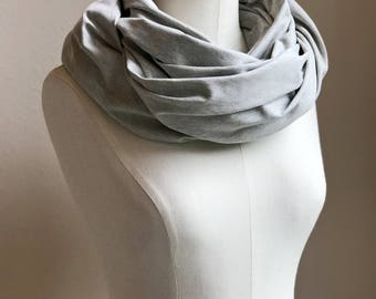 UPF 50 Infinity Scarf / Nursing Cover with UVA & UVB sun protection / Lightweight Stretch Infinity Scarf / Heather Gray Scarf / Erica