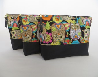 Cosmetic Bag, Travel/Sundries Bag, Zippered Pouch, Vinyl Lining