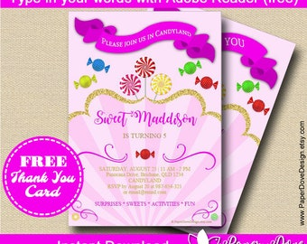 Candy Invitation 5x7"