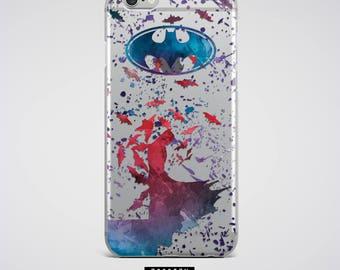 Batman Phone Case Clear iPhone 7 Case Bruce Wayne iPhone 6S plus Case Samsung Galaxy S6 Case Transparent iPhone Case iPhone 7 Plus Case