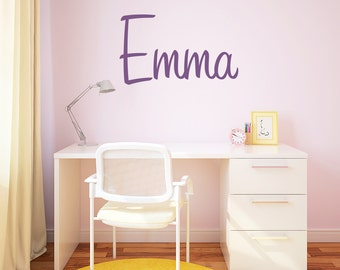 Name Wall Decal / Bedroom Wall Sticker / Personalized Lettering / Custom Wall Vinyl / Home Decor