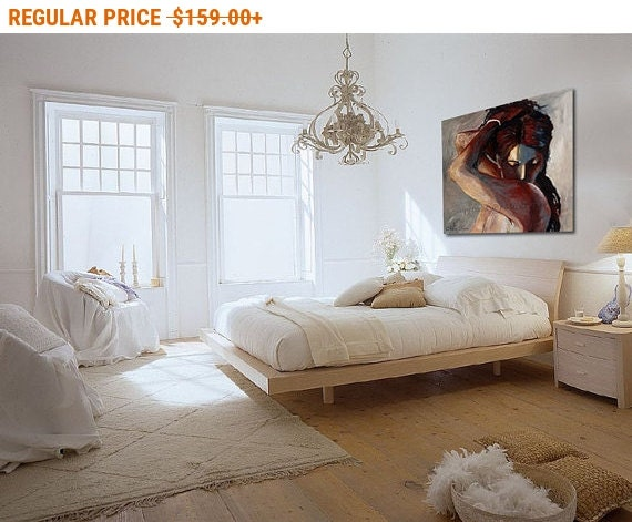 Sale portrait print erotic print painting print by - Sensual paintings for the bedroom ...